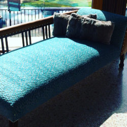 Reupholstered day bed