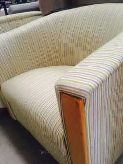 Reupholstered Lounge chair